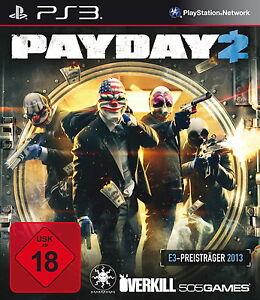 Payday 2 für PS3 *TOP* (mit OVP)