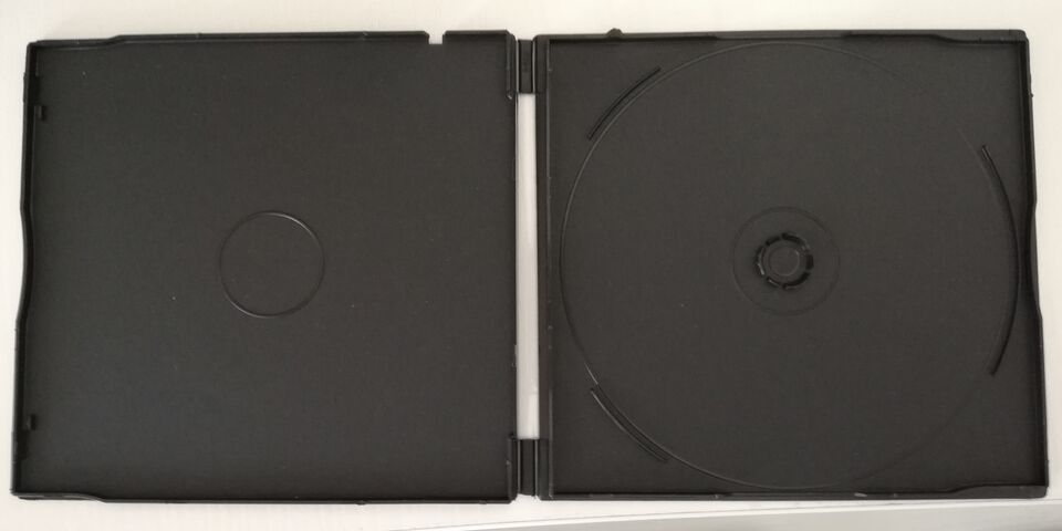 Custodie singole nere 4mm per cd dvd e blu-ray
