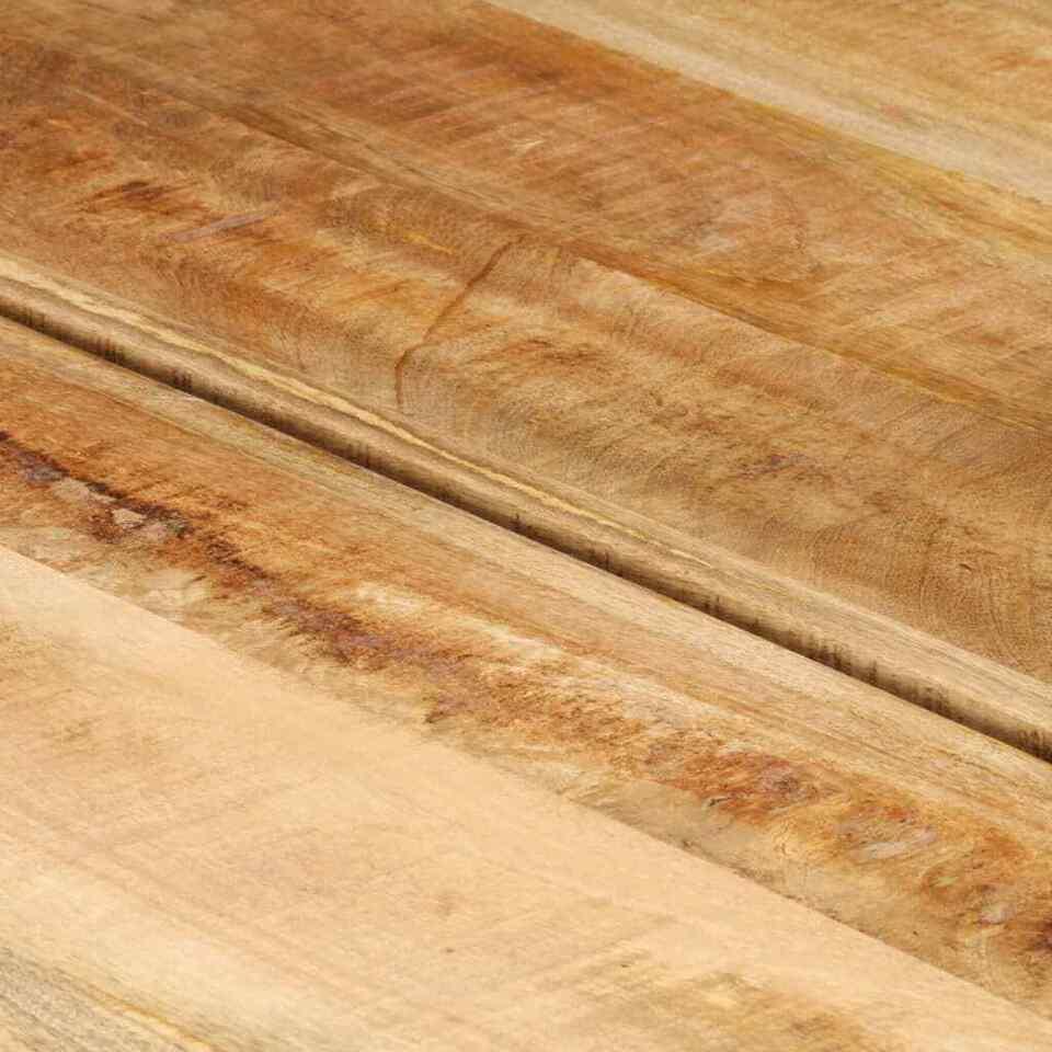 Tavolino da Salotto in Legno Massello di Mango 142x90x42 cm 2