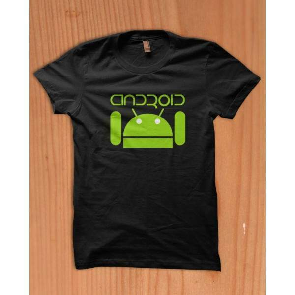 T-shirt android mangia mela-apple- samsung lg motorola htc tablet sony 8