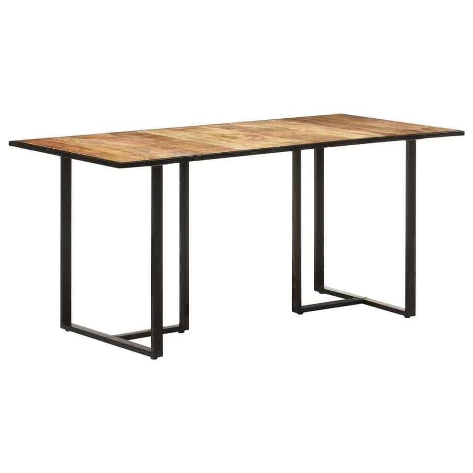 Tavolo da Pranzo 160 cm in Legno Massello di Mango Grezzo 8