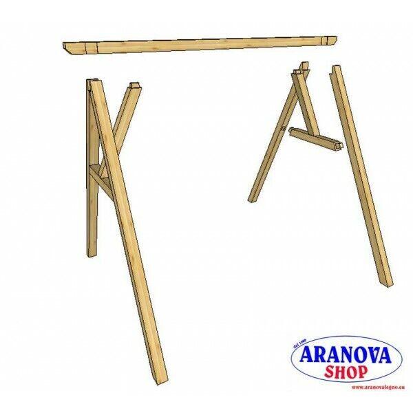 Altalena in legno Sofia 2 posti 2