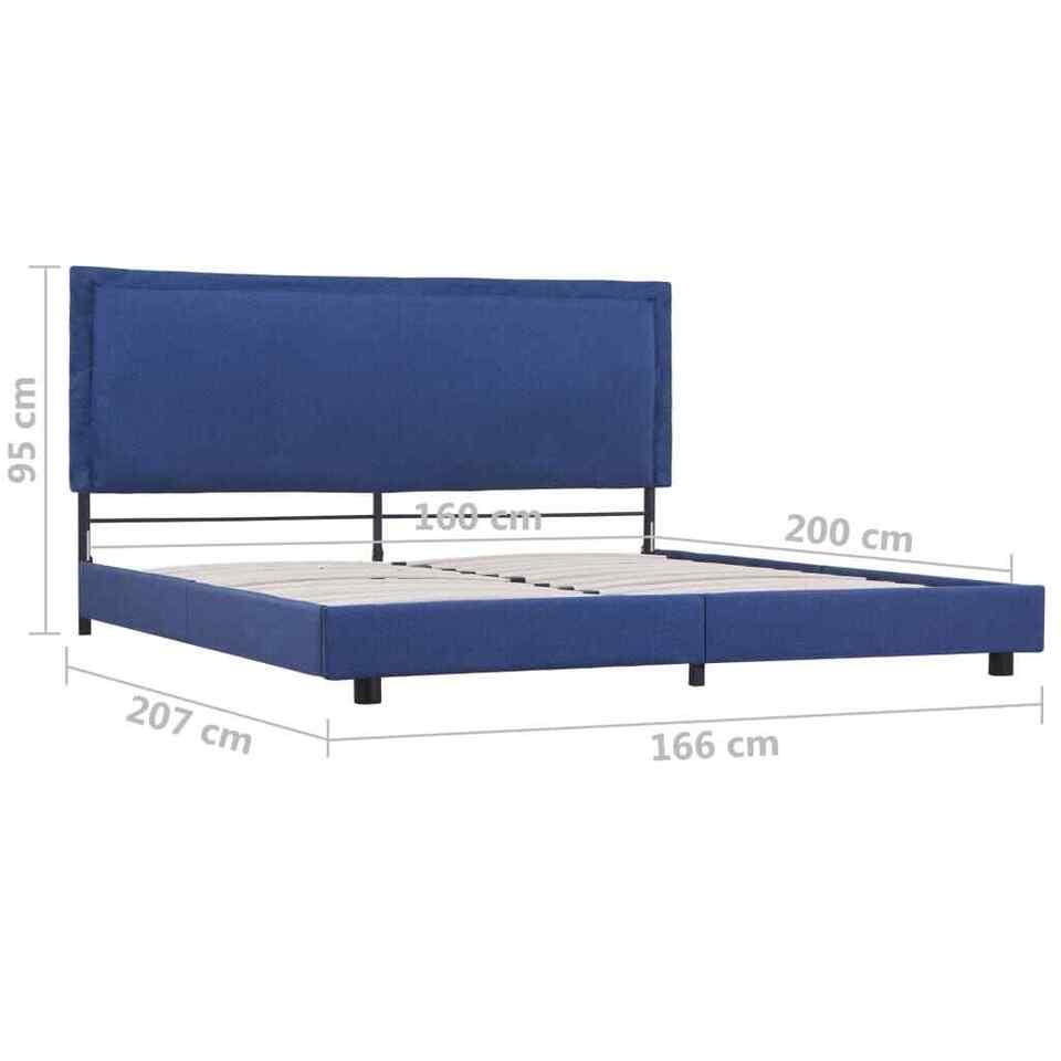Giroletto Blu in Tessuto 160x200 cm 7