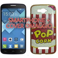 Alcatel onetouch pop c7 smartphone blu + cover in silicone