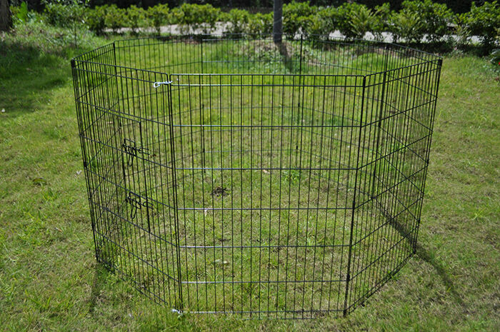 foldable and easy to transport the smithbuilt dog exercise playpen consists of eight metal panels made using steel