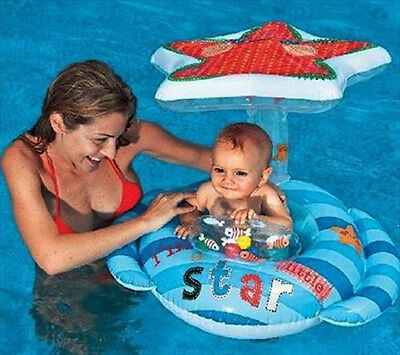 56582EP Combines An Inflatable Vinyl Seat With A Canopy To Keep The Strong UV Rays Away From Babys Delicate Skin This Combination Swimming Pool Float