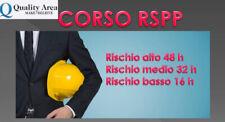 Corso di formazione rspp (sicurezza sul lavoro) - crotone