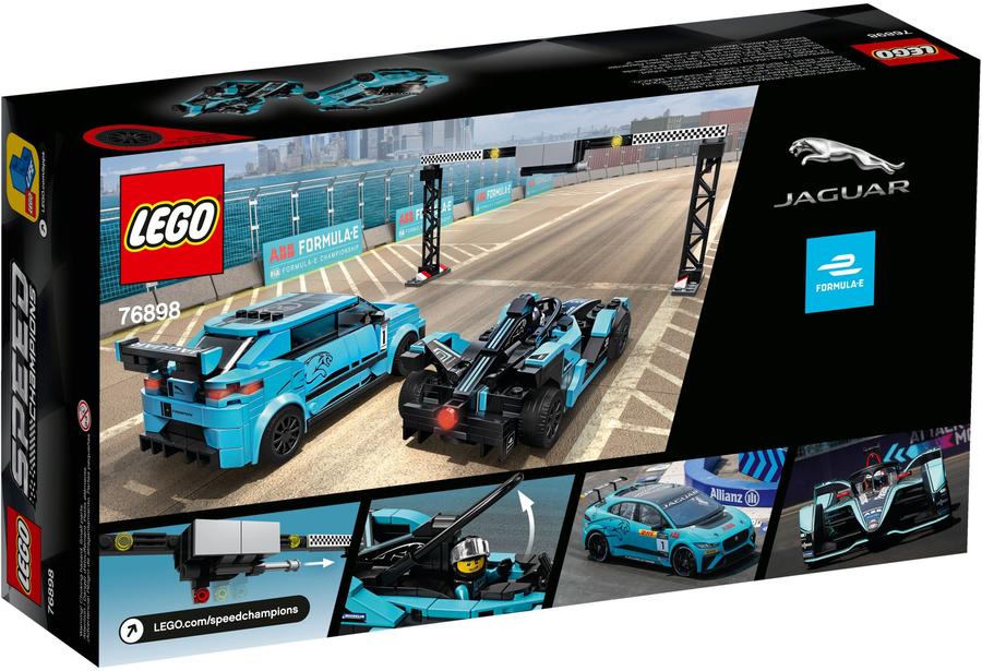 76898 speed racers - formula e panasonic jaguar gen2 & jaguar i-pace e 3