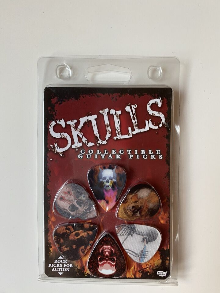Plettri chitarra Picks skulls 3D illusion limited edition