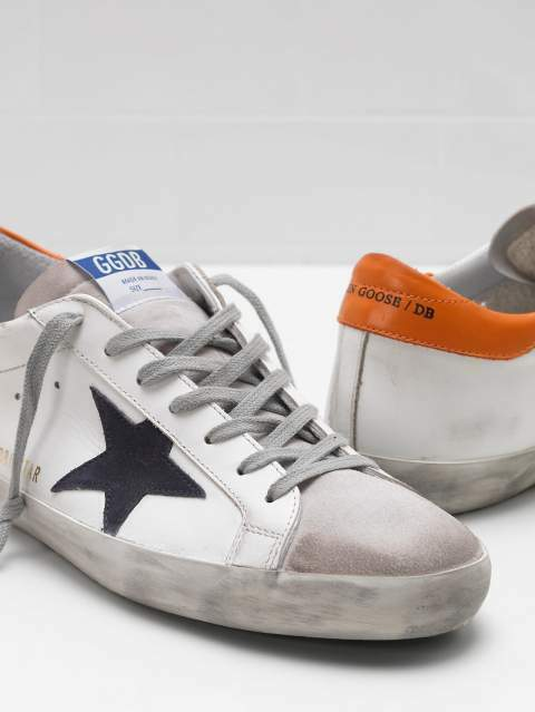Golden goose superstar bianche/rosse/nero