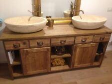 Bagno in legno vecchio 2 postazioni ante cassetti
