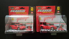 Burago Ferrari 458 e California race & play garage