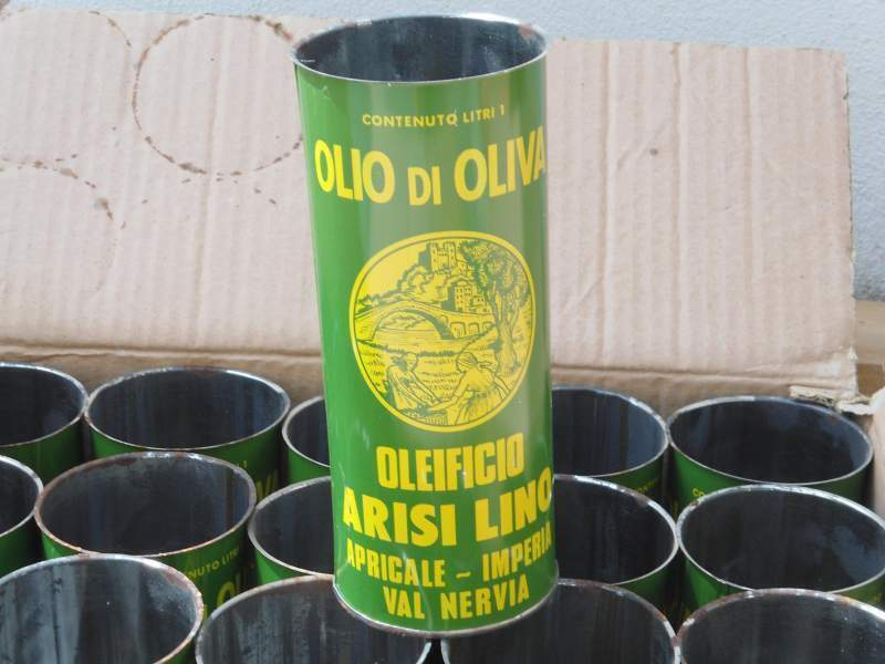 Lotto 20 lattine olio olive epoca imperia apricale