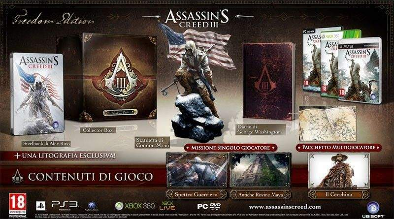 Assassin's creed iii 3 freedom edition collector - ps3
