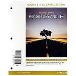 Psychology and Life, Books a la Carte Edition
