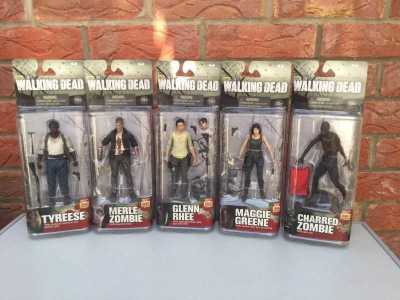 The walking dead tv series 5 mcfarlane action figure in blocco