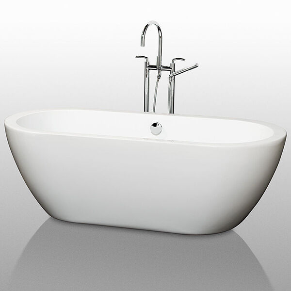 Top 8 freestanding bathtubs ebay for How long is a standard bathtub