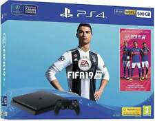 Console PlayStation 4 500 GB (Chassis F) + FIFA 19 - Nero