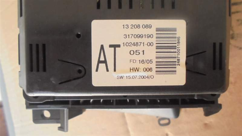 Display centrale opel astra h anno 2007 8
