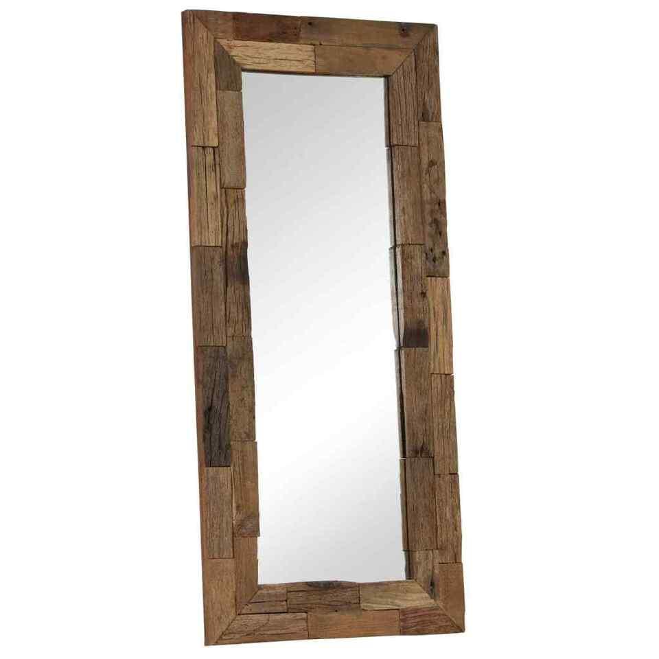 Specchio in Legno Massello di Recupero 50x110 cm 2