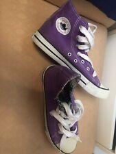 Sneakers di tessuto viola usate