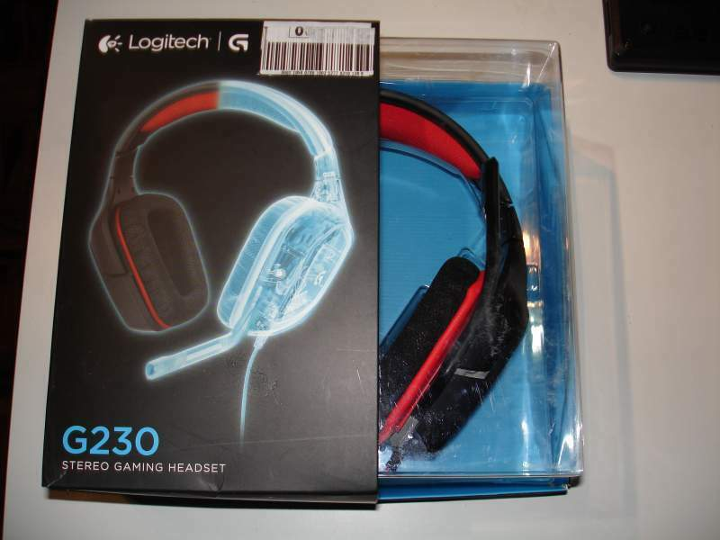 Cuffie gaming stereo Logitech G230 nero / rosso