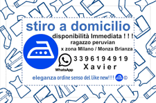 Stiro a domicilio disponibilità Immediata ! ! !