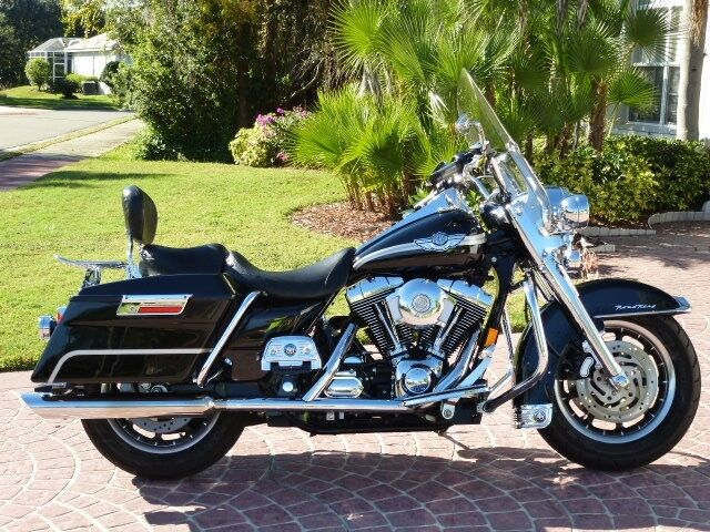 2003 road king 100th anniversary edition custom chrome low miles exc condition ebay. Black Bedroom Furniture Sets. Home Design Ideas