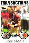 Jeff Garcia Football Trading Cards