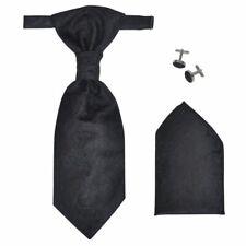 VidaXL Set Gilet di nozze da uomo paisley elegante taglia 52 nero