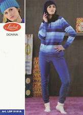 Pigiama LIABEL donna LDP9191A in pile, bordato.