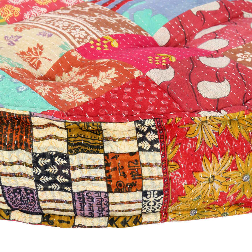 Pouf 100x20 cm in Tessuto Patchwork 7