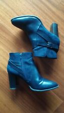 Stivaletti ankle boots blu notte
