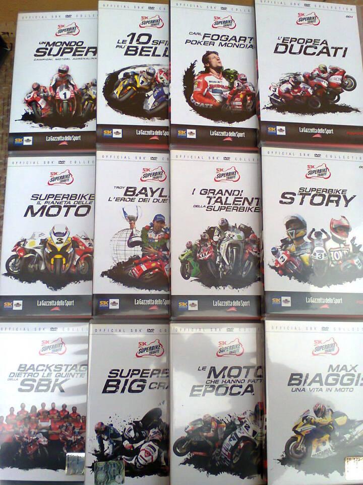 """Collezione originale in dvd """"superbike tribute"""" 7"""