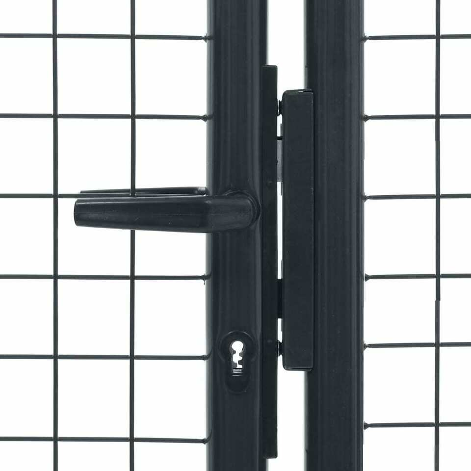 Cancello per Giardino in Acciaio Zincato Grigio 400x175 cm 4