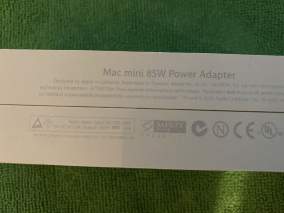 Alimentatore originale Apple A1105 85W Mac Mini (G4)