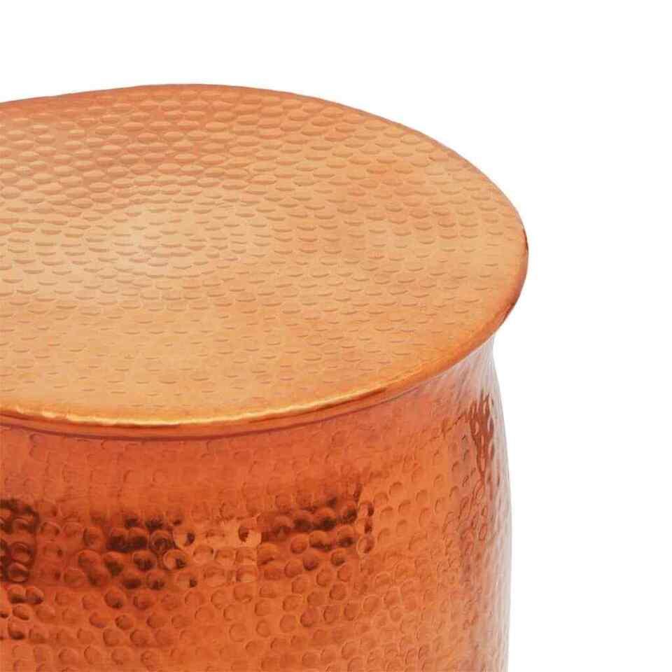 Sgabello/Tavolino Laterale Alluminio Battuto Colore Ottone/Rame 3