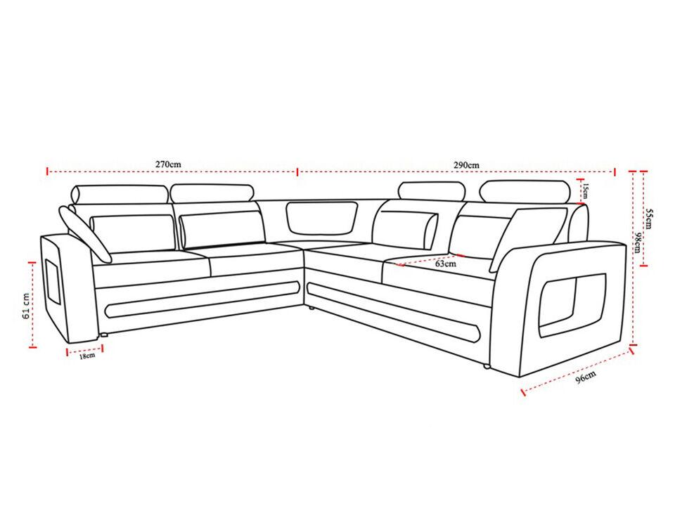Fantastico e raffinato divano angolare letto glasgow 6