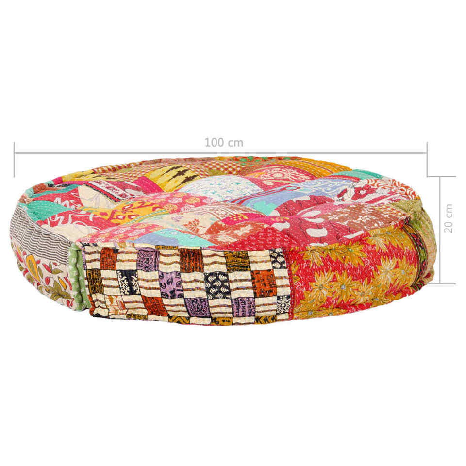 Pouf 100x20 cm in Tessuto Patchwork 8