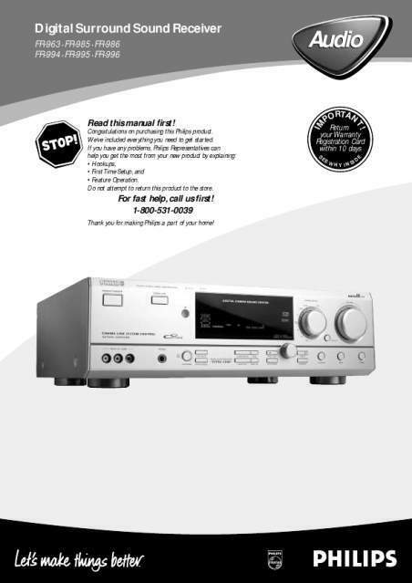 Sinto - amplificatore Home Cinema Philips 986 + subwoofer