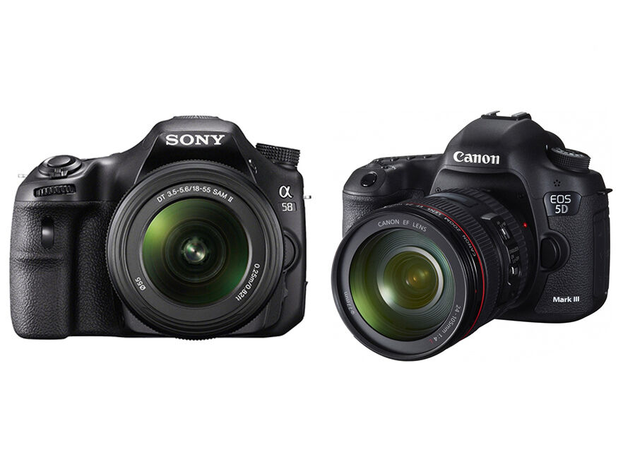 Sony Alpha A58 vs. Canon EOS 5D