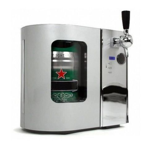 haier beer dispenser. with its compact size and lightweight construction, consumers can place the edgestar deluxe beer dispenser right on their countertop. haier p