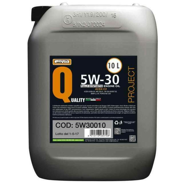 Olio lubrificante Quality Project 5W/30 fully synthetic 10 litri