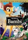 Bambi (DVD, 2005, 2-Disc Set, Special Edition/Platinum Edition) (DVD, 2005)