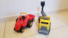 Little tikes trattore con rimorchio e carroattrezzi