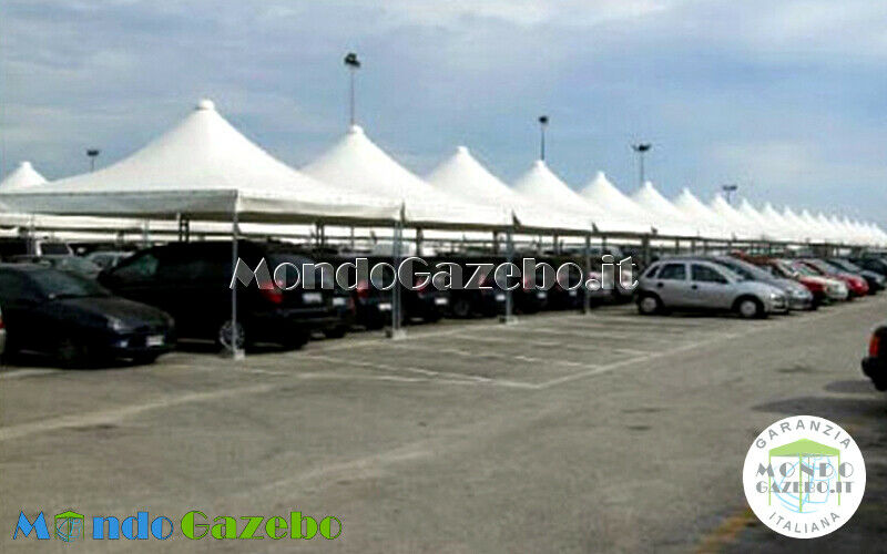 Gazebo 5x6 WIND PLUS tettoia impermeabile 6x5 box 8