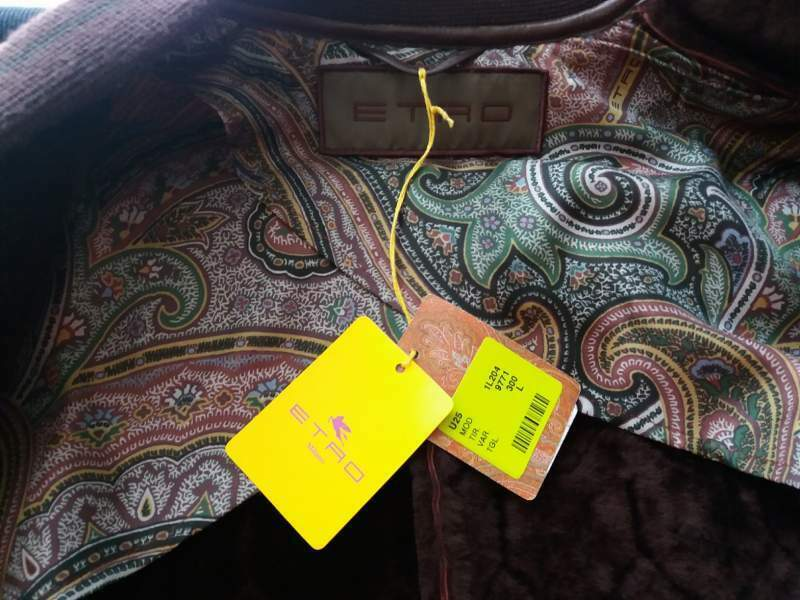 Bomber ETRO Shearling rossiccio Large 52/54 Made in Italy