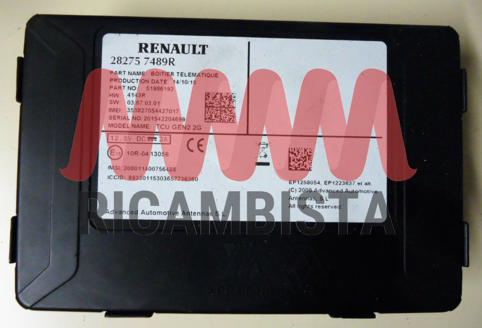 A282757489R Smart ForTwo 453 centralina...