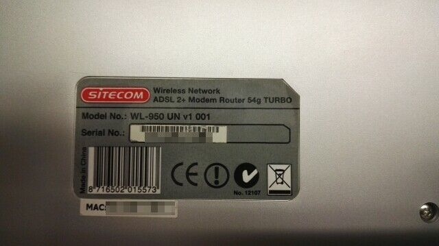 Router Sitecom 54g Turbo WL-950 3
