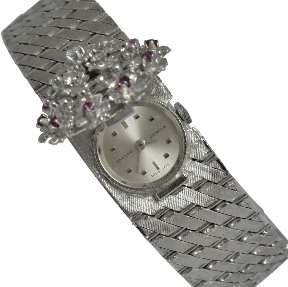 SARCAR GENEVE Lady watch gold rubies and diamond's Full Set 2